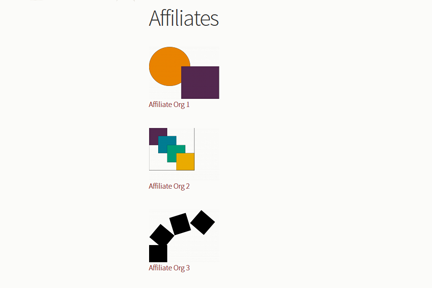 Affiliates list with titles