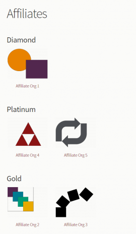 Affiliates grouped view