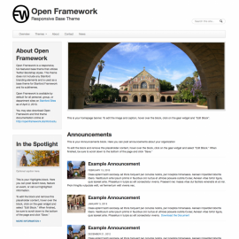 Screenshot of Open Framework Drupal theme